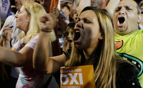 'No to EU threats and blackmail!' decides strong majority in Greece referendum