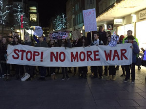 British Parliament debates joining U.S.-led bombing in Syria as protesters occupy the streets
