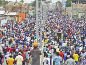 Tens of thousands march in Haiti to foil fraudulent elections as threats of regime death squads loom