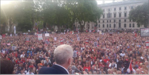 Jeremy Corbyn supporters mobilize against Labour Party coup plotters