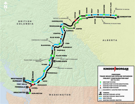 In orchestrated ploy, Kinder Morgan announces halt to all but non-essential work on Trans Mountains tar sands pipeline expansion